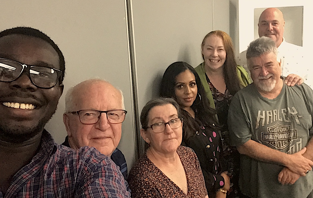 Board planning day selfie. from left: Stephen Tongun, Colin Cargill, Monica McEvoy, Fanita Solomon, Verity Newnham, Bonny Gibson, Steve Blacket